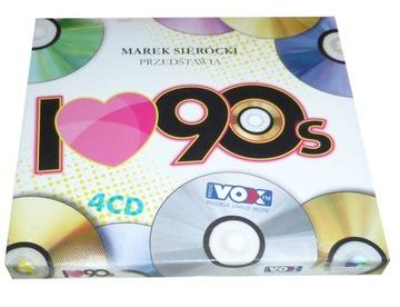 Marek SIEROCKI I Love 90 - 4CD Хиты 90-х доставка товаров из Польши и Allegro на русском