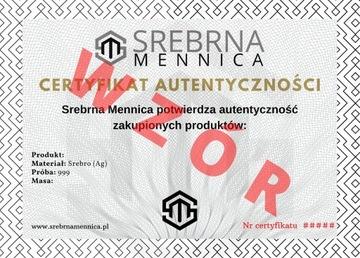 Серебро - сертификат подлинности для покупок доставка товаров из Польши и Allegro на русском