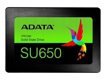 Dysk SSD ADATA Ultimate SU650 480GB 2,5 520/450MBs доставка товаров из Польши и Allegro на русском