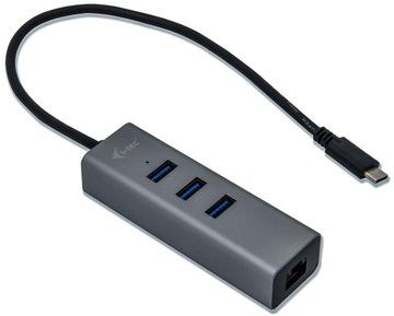 i-tec Адаптер USB-C Gigabit LAN +HUB 3xUSB доставка товаров из Польши и Allegro на русском