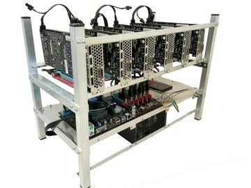 Майнер криптовалюты 6x RX5700 XT 8GB ETH 312mhs  доставка товаров из Польши и Allegro на русском