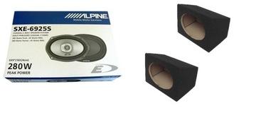 ALPINE SXE-6925S динамики автомобильные корпуса MDF доставка товаров из Польши и Allegro на русском