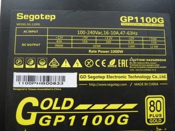 Zasilacz ATX SEGOTEP GP1100G 1000W 80 PLUS GOLD доставка товаров из Польши и Allegro на русском
