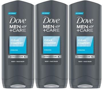 Dove Men Care Clean Comfort Гель для Душа 3 x 250 мл доставка товаров из Польши и Allegro на русском