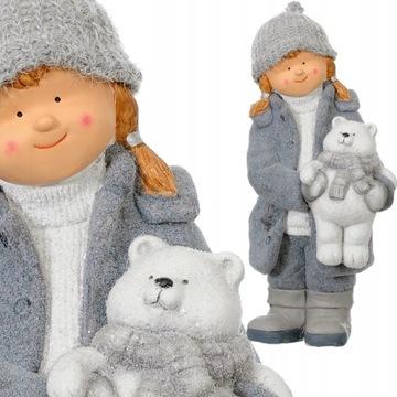 DZIEWCZYNKA z MISIEM ceramiczna figurka XXL DUŻA доставка товаров из Польши и Allegro на русском