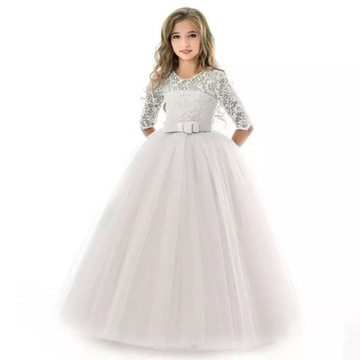 Платье wizytowa бальное платье свадьба 128 доставка товаров из Польши и Allegro на русском