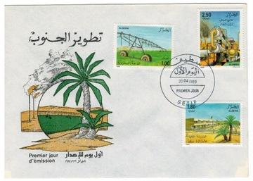 FDC Марки Алжир 1989 сельское хозяйство, орошение нефть доставка товаров из Польши и Allegro на русском