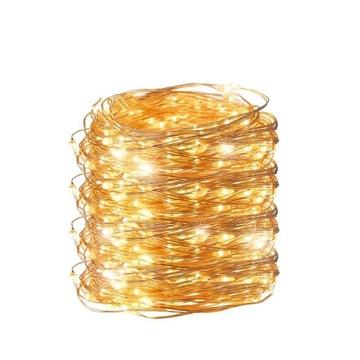 LAMPKI DRUCIKI 100 LED NA BATERIE CHOINKOWE KOLORY доставка товаров из Польши и Allegro на русском