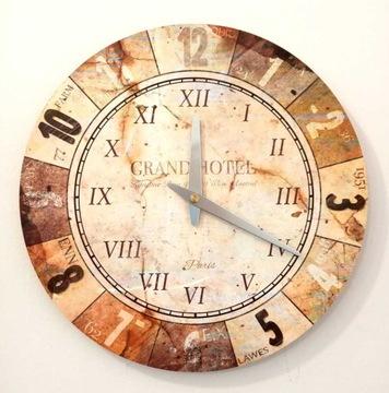 Zegar ścienny ZH126 retro vintage 30cm