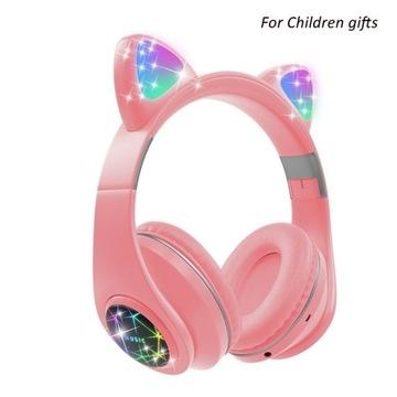 Słuchawki Bluetooth Cute Cat Kolorowe dziewczyny доставка товаров из Польши и Allegro на русском