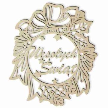 деревянный декор witrażyk надпись с РОЖДЕСТВОМ 23см доставка товаров из Польши и Allegro на русском
