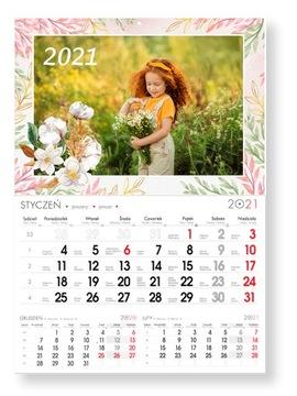 Foto-Kalendarz Jednodzielny A3 Twoje Zdjęcia 2021 доставка товаров из Польши и Allegro на русском