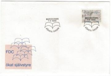 FDC аландские Острова Аланд 1993 право на независимость доставка товаров из Польши и Allegro на русском