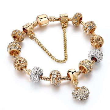 Bransoletka Modułowa Złota Do Pandora Charms Beads доставка товаров из Польши и Allegro на русском
