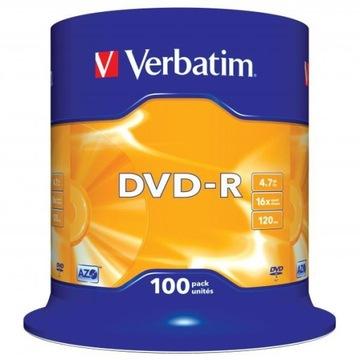 ДИСК VERBATIM DVD-R LO, 4,7 GB СКОРОСТЬ 16X, CAKE доставка товаров из Польши и Allegro на русском
