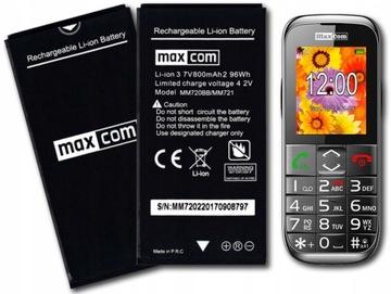 Org аккумулятор для телефона Maxcom MM721 MM720 800 мач доставка товаров из Польши и Allegro на русском