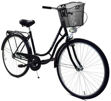 Rower Polski Miejski 28 meski damka damski i kosz