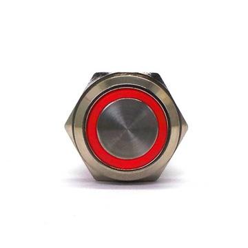 Włącznik On/Off zatrzaskowy LED 18mm Czerwony доставка товаров из Польши и Allegro на русском
