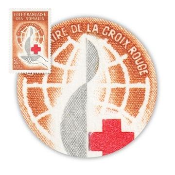 Somali Francuskie Czerwony Krzyż Stulecie Znacz ** доставка товаров из Польши и Allegro на русском