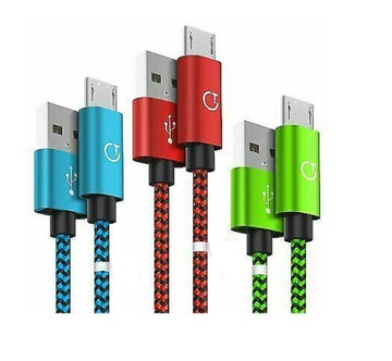 КАБЕЛЬ MICRO USB-C 1М + 1,5 М + 2М GRITIN ПЛЕТЕНЫЙ доставка товаров из Польши и Allegro на русском