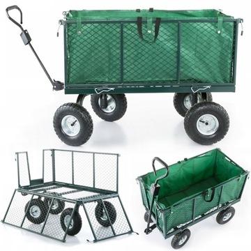 Коляска садовый транспортный прицеп 450kg доставка товаров из Польши и Allegro на русском