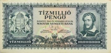 Венгрия Республика - БАНКНОТЫ - 10 Миллионов Pengo 1945 доставка товаров из Польши и Allegro на русском
