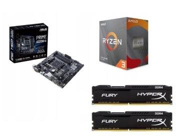 ZESTAW AMD RYZEN 3 3100 +ASUS A320M-A +16 GB DDR4 доставка товаров из Польши и Allegro на русском