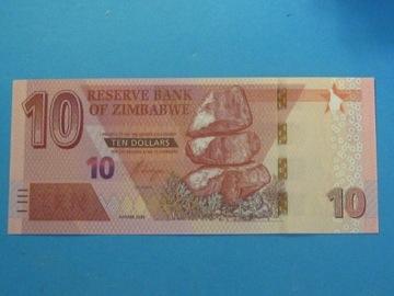 Зимбабве 10 Долларов К 2020 !! UNC низкий № 000xxxx доставка товаров из Польши и Allegro на русском