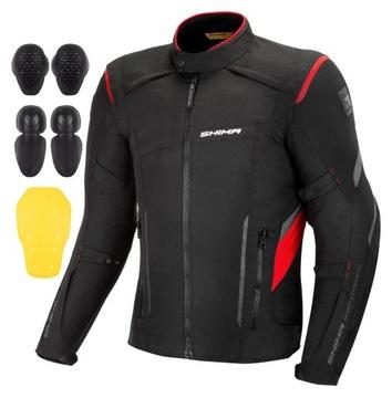 SHIMA RUSH RED BLACK Куртка специальная одежда для мотоциклистов + ХАЛЯВА доставка товаров из Польши и Allegro на русском