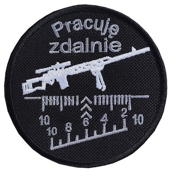 Naszywka Pracuję Zdalnie Rzep 86 mm доставка товаров из Польши и Allegro на русском