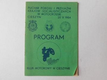 ПРОГРАММА POKOJU CIESZYN 84 PZM FIM MOTOCROSS  доставка товаров из Польши и Allegro на русском