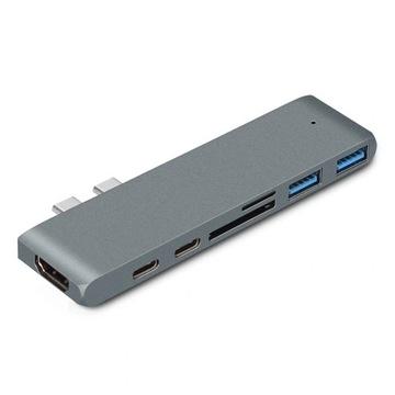 Адаптер 7w1 HUB USB-C, HDMI 4K SD Macbook Pro / Air доставка товаров из Польши и Allegro на русском