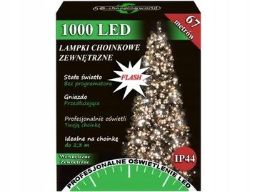 LAMPKI CHOINKOWE 1000 LED ZEWNĘTRZNE FLASH ISKRA доставка товаров из Польши и Allegro на русском