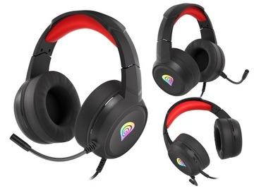 Наушники с микрофоном Neon Genesis 200 RGB LED доставка товаров из Польши и Allegro на русском