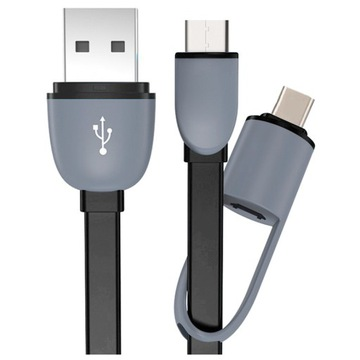 (КАБЕЛЬ 2 В 1 ЗАРЯДНОЕ устройство MICRO USB-C для HUAWEI SAMSUNG) доставка товаров из Польши и Allegro на русском