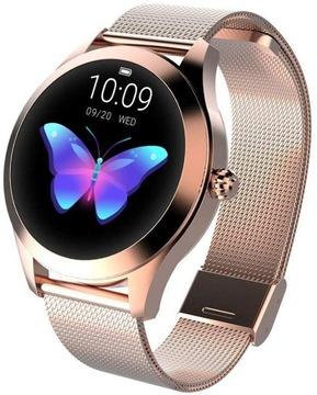 Женские наручные часы Smartwatch Золотой Пульсометр KW10 доставка товаров из Польши и Allegro на русском