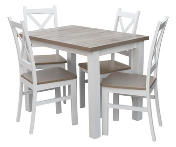 Обеденный стол с 4 стульями, белый попель в столовой Z054 доставка товаров из Польши и Allegro на русском