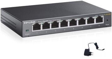 Switch 8port TP-Link TL-SG108E ZARZĄDZALNY GigaBit доставка товаров из Польши и Allegro на русском
