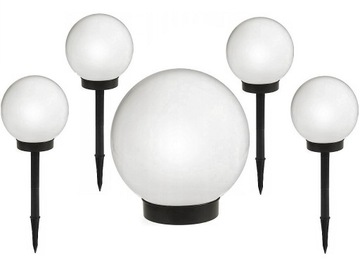 LAMPA SOLARNA LED 10 cm LAMPKI OGRODOWE KULA 4 SZT доставка товаров из Польши и Allegro на русском
