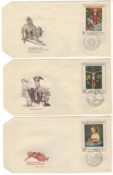 FDC Чехословакия 1969 Марки 1910-4 живопись  доставка товаров из Польши и Allegro на русском