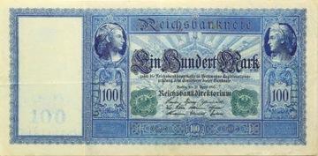 БАНКНОТА - 100 Марок 1910 - ЗЕЛЕНЫЙ ПЕЧАТЬ Ro: 44 доставка товаров из Польши и Allegro на русском