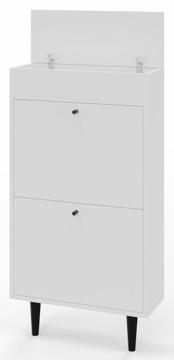 Шкафчик для обуви обувь ДОТТИ 521 белый с местом для хранения доставка товаров из Польши и Allegro на русском