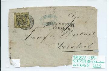 Całości Europa do 1900 BADEN ok. 1851 доставка товаров из Польши и Allegro на русском