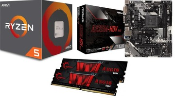 Набор AMD Ryzen 5 3600 + ASRock A320M + 16GB RAM доставка товаров из Польши и Allegro на русском