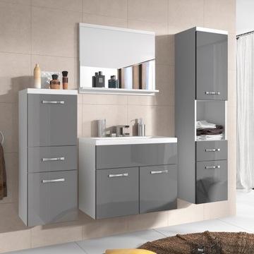 Комплект подвесной мебели для ванной комнаты шкаф стойки доставка товаров из Польши и Allegro на русском