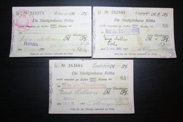 ROTH STADTGIROKASSE NIEMCY 1923 ZESTAW 10 000 000 доставка товаров из Польши и Allegro на русском