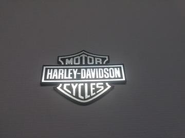 HARLEY-DAVIDSON наклейка эмблема 60x45mm *СЕРЕБРЯНАЯ доставка товаров из Польши и Allegro на русском