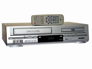 Комбо DVD-VHS 6GŁOWIC SP/Lp NTSC + ПУЛЬТ дистанционного управления доставка товаров из Польши и Allegro на русском