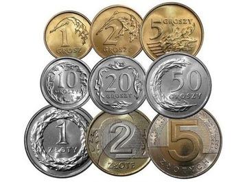 2020 komplet rocznik 1,2,5,10,20,50 gr 1,2,5 zł доставка товаров из Польши и Allegro на русском