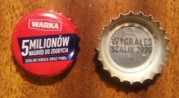 крышечку от пива warka - выигрышный 2020 выиграл шарф доставка товаров из Польши и Allegro на русском